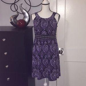 Purple Black Damask Design Sz PM